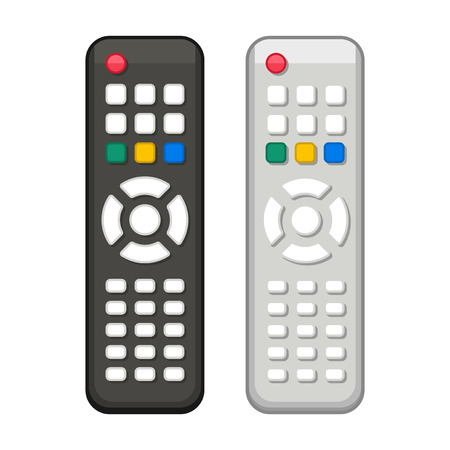 TV Remote Control in Black and White Design. Vector