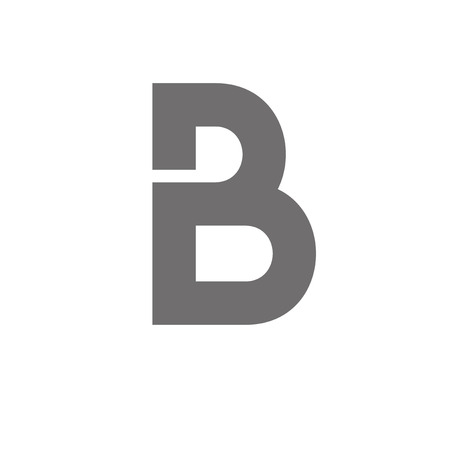 b: Letter B  Concept Icon. Vector Illustration