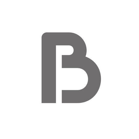 b: Letter B Logo Concept Icon. Vector Illustration