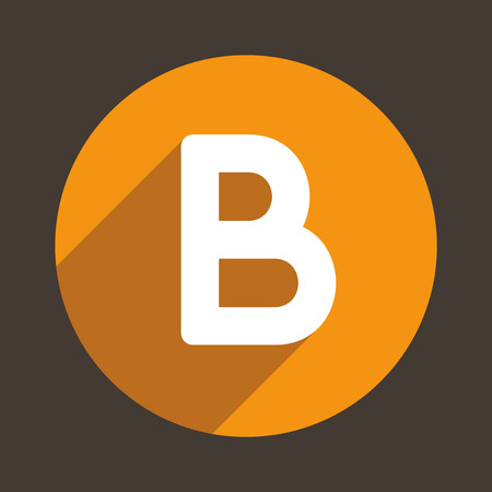 B: Letter B Logo Flat Icon Style. Vector Illustration