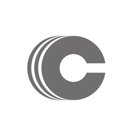 c to c: Letter C Logo Concept Icon. Vector