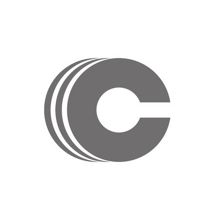 Letter C Logo Concept Icon. Vector