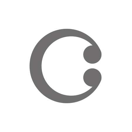 c design: Letter C Concept Icon.  Illustration
