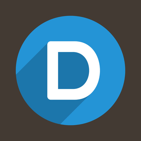 d: Letter D Concept Icon. Vector illustration