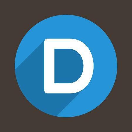 a d: Letter D Concept Icon. Vector illustration