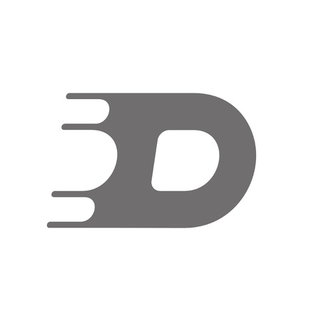 d: Letter D icon Concept Icon. Vector illustration