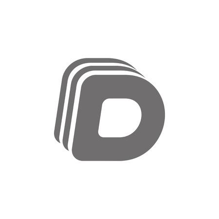 d: Letter D Concept Icon. Vector illustration