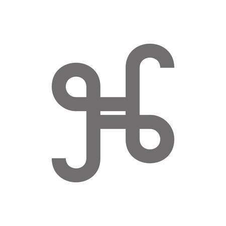 h: Letter H Logo Concept Icon. Vector Illustration