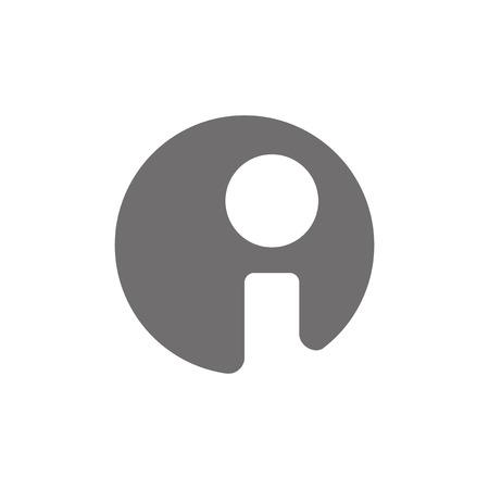 Letra I Logo Icon Concept. Vector Foto de archivo - 41161802