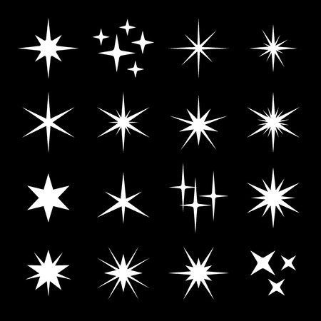Light Sparkles Star Set Ilustracja