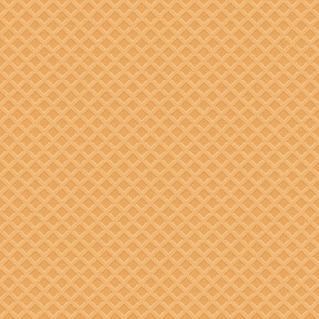 waffles: Patrón oblea helado inconsútil. Vector dulce Ilustración Vectores