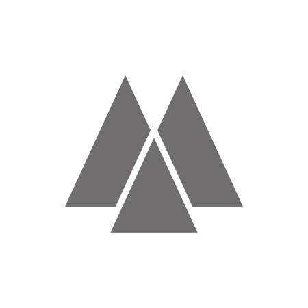 Letter M Logo Concept Icon. Vector illustratie