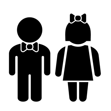 public restroom: Man and Woman Icons, Toilet Sign, Restroom Icon, Vector Pictogram
