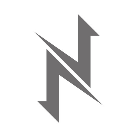 Letter N Logo Concept Icon. Vector illustration