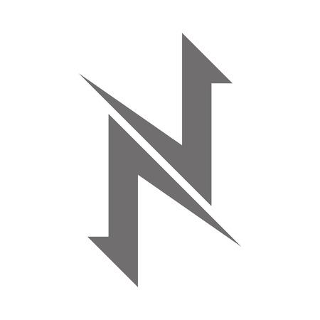 Letter N Logo Concept Icon. Vector illustration