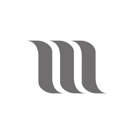 m: Letter M Logo Concept Icon. Vector illustration Illustration