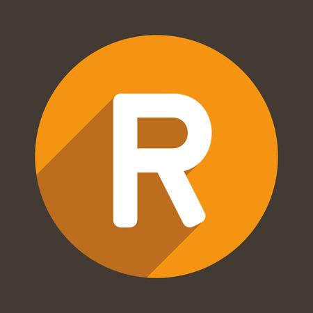 r: Letter R Concept Icon. Vector illustration Illustration