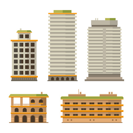 urban planning: Business Center and City Ofice Buildings Set