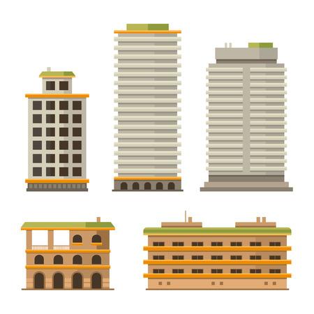 centre d affaires: Business Center and City Ofice Buildings Set