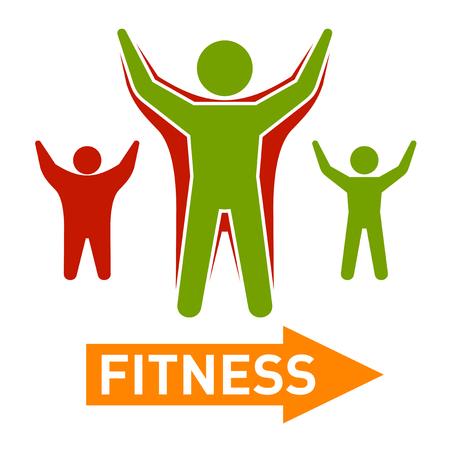 body slim: Slim and Fat Peple Figires. Fitness Progress Body. Vector illustration Illustration