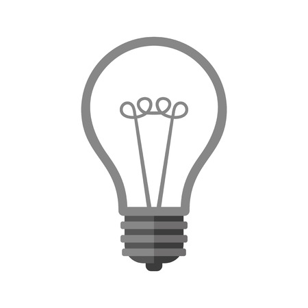 fluorescent lights: Bulb Icon on White Background. Vector illustration Illustration