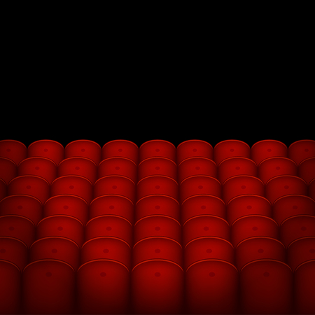 classical theater: Red Cinema or Theater Seats with Black Blank Background. Vector illustration Illustration