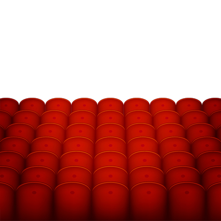 theater seats: Red Cinema or Theater Seats with White Blank Background. Vector illustration