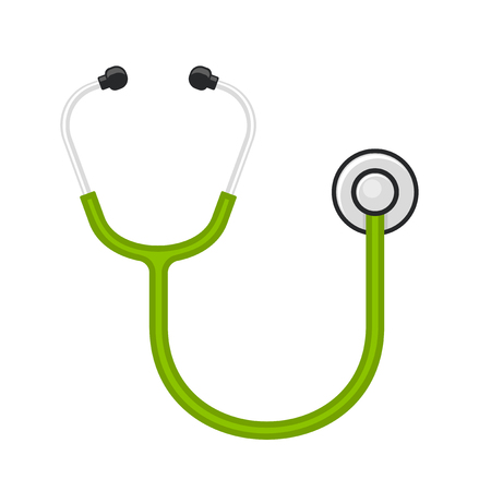stetoscope: Medical Stethoscope on White Background. Vector illustration Illustration