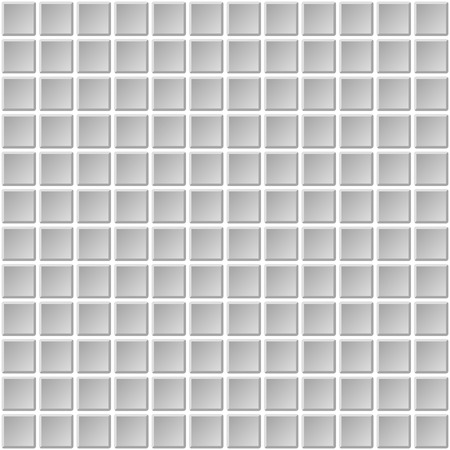 masonry: Seamless Mosaic Tiles Texture with White Filling. Vector illustration Illustration