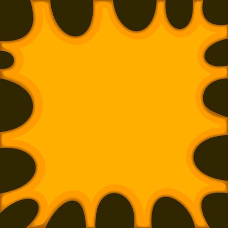 slime: Orange Slime Background on Dark. Vector illustration