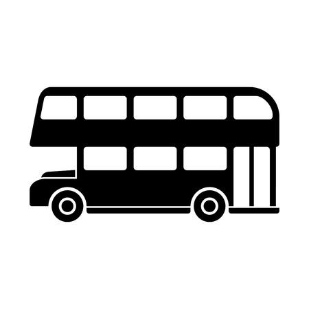 London Dubbeldekker Silhouette. vector illustratie Vector Illustratie