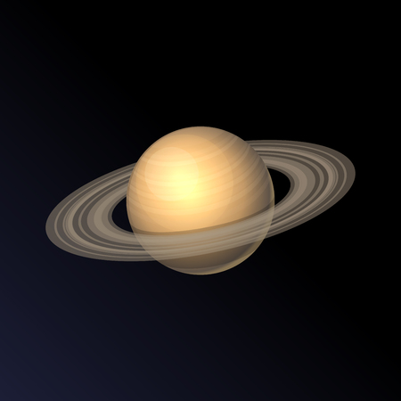 and saturn: Saturn Planet Isolated on Dark Background. Vector illustration Illustration