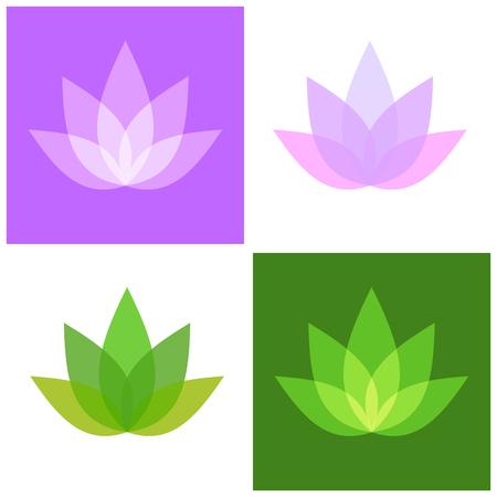 lotus: Lotus Symbol Icons Set. Yoga and Spa Logo. Vector illustration