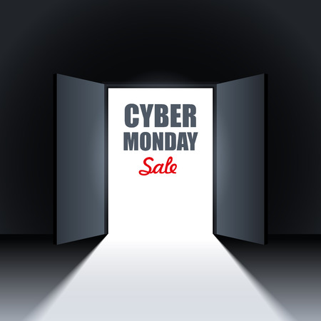 monday: Cyber Monday Sale Background Design Element.