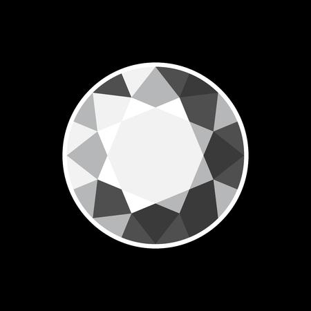 diamond background: White Diamond on Black Background. Vector illustration