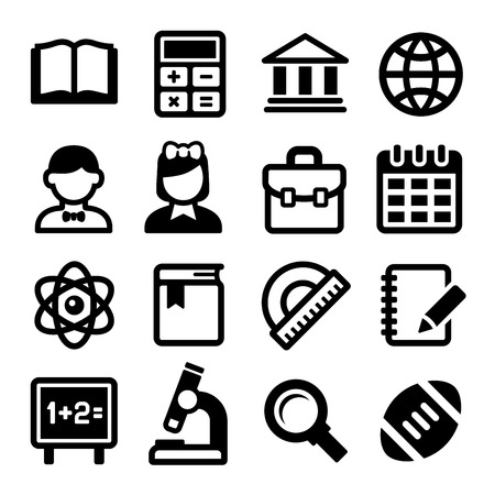 cap: School and Education Icons Set.