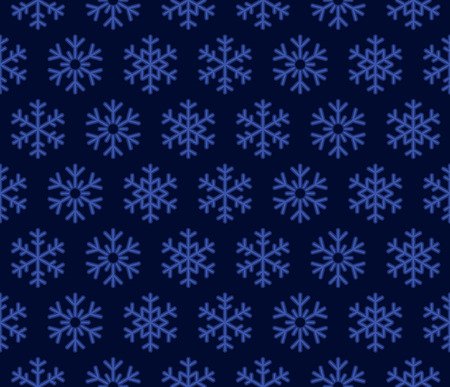 blue snowflakes: Christmas Snowflakes Blue Background with Seamless Pattern. Vector illustration