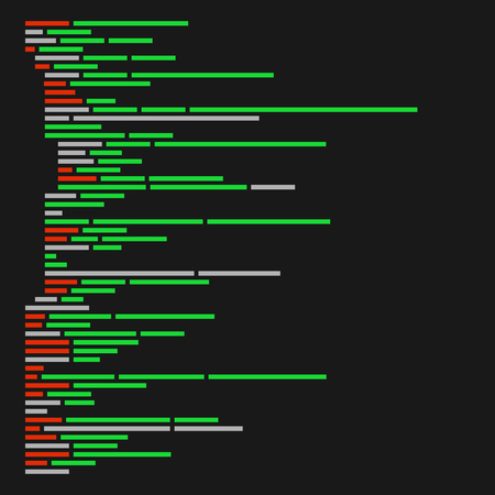 web application: Program Code Listing, Abstract Programming Background. Vector illustration Illustration