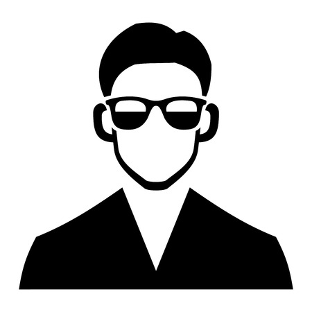black boy: Young Hipster Fashion Man Hair and Glasses. Vector illustration