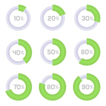Circle Diagram Pie Charts Infographic Elements. Vector illustration