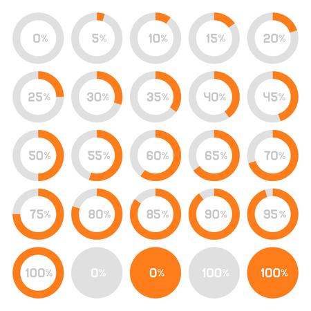graficas de pastel: Círculo Diagrama Pie Charts Infografía elementos. Ilustración vectorial Vectores