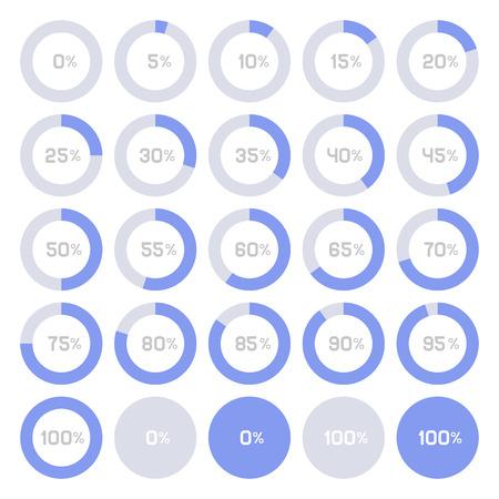 Graphiques Cercle Diagramme Pie infographique éléments. Vector illustration Vecteurs
