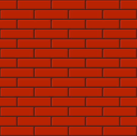 Naadloze Tegels rode bakstenen muur. vector illustratie