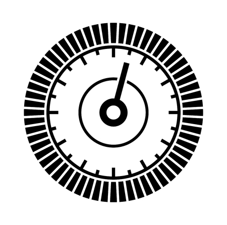 pressure gauge: Dial Sign Template with Segmented, Level Indicator. Vector illustration Illustration