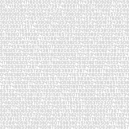 cryptogram: Code Screen Gray Numbers Background. Vector illustration Illustration