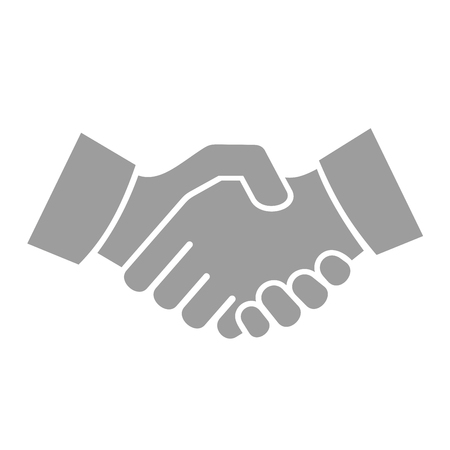 Handshake Icon on White Background. Vector illustration