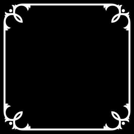 Silent Movie Black Frame with White Border. Vector illustration