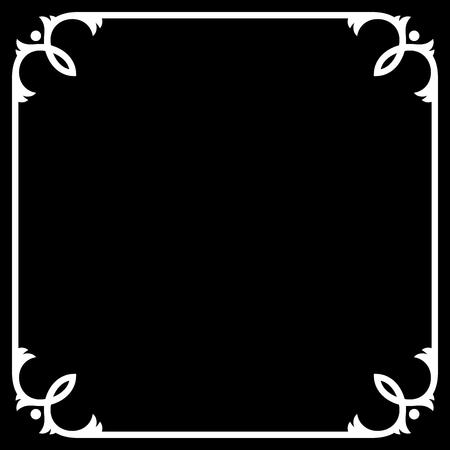silent: Silent Movie Black Frame with White Border. Vector illustration