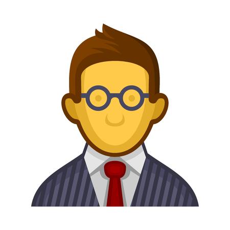 userpic: Businessman or Programmer Avatar Profile Userpic on White Background. Vector illustration