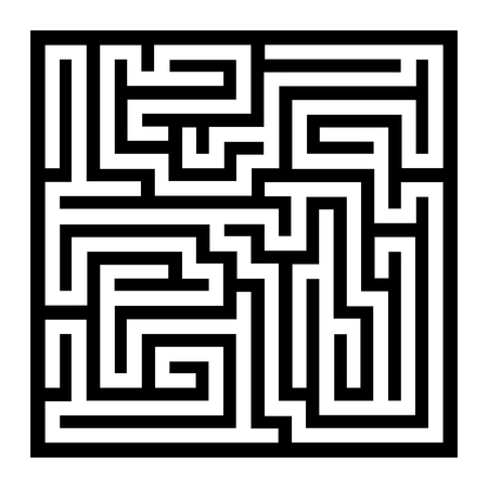 leading the way: Thin Line Style Maze on White Background. Vector illustration Illustration